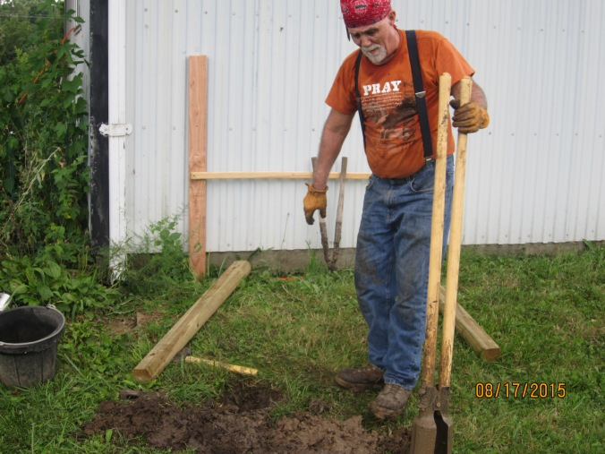 Post require holes. A four foot high post needs at least 2 feet in the ground.  There are roots in the ground, and rocks, and more roots and things that I would hesitate to name. But if you are stuborn enough you can dig the hole.  Katherine developed other business.