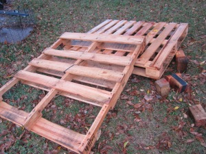 Pallets before